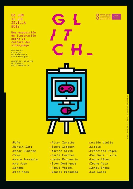 Exposición GLITCH. Videojuego e Ilustración